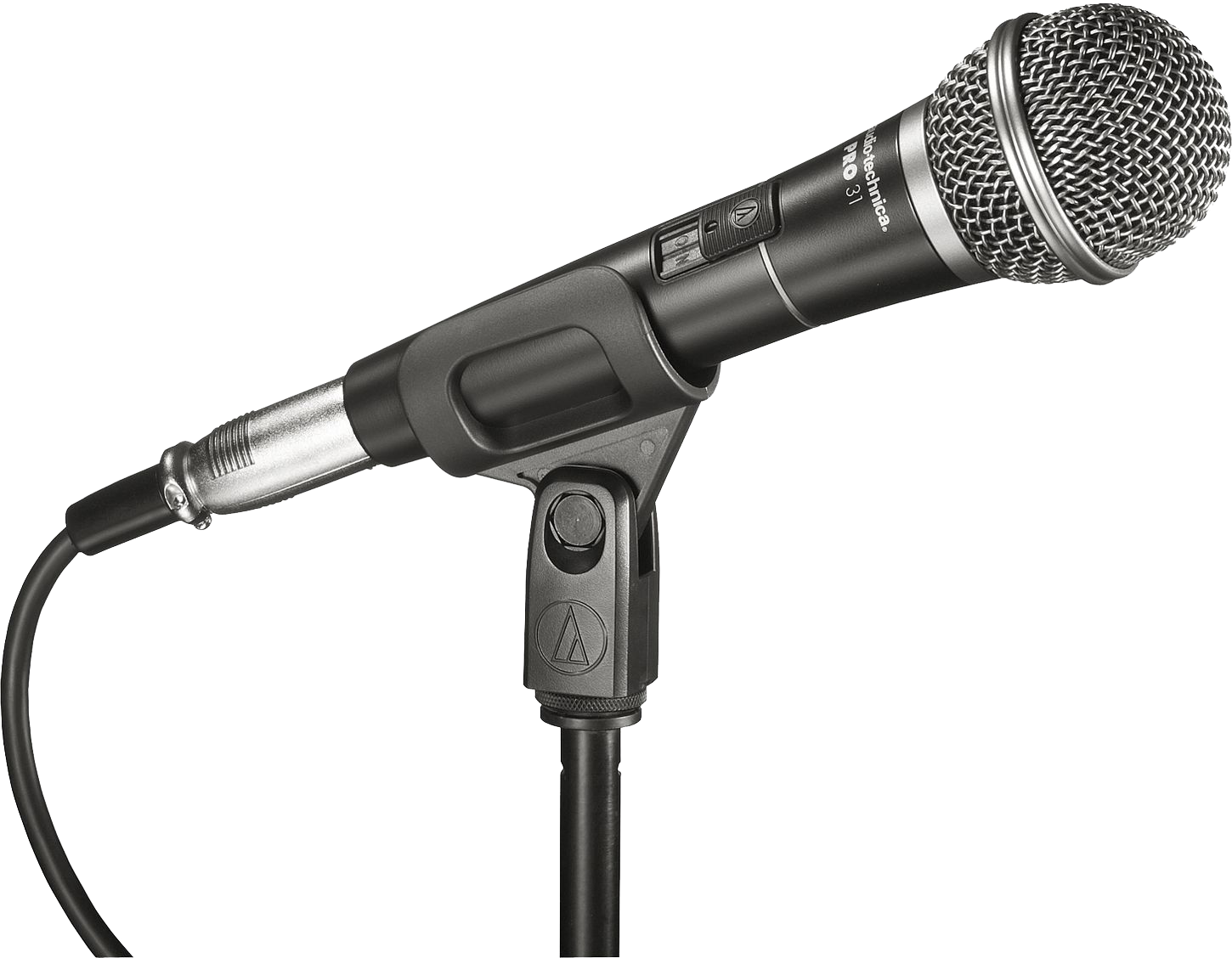 Black audio Microphone PNG Image.