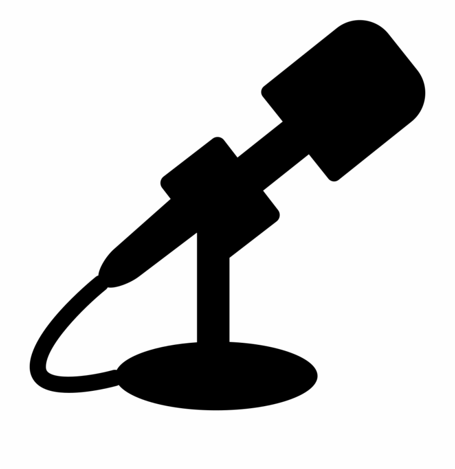 Radio Microphone Silhouette Free PNG Images & Clipart.