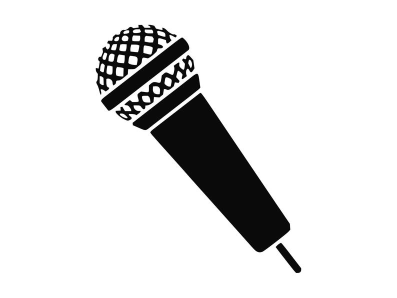 Microphone Svg Music Svg Silhouette Cutting File Microphone Clipart Svg Dxf  Png Singer Art Cnc Laser Cut File Tshirt Vector Clip Art.