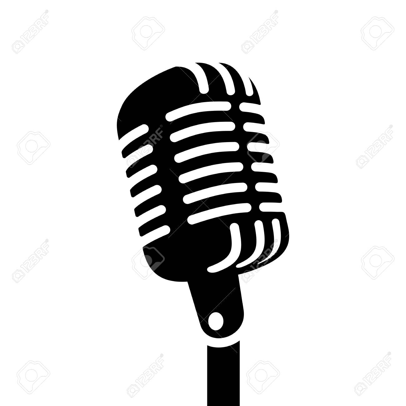 Retro microphone vector sign » Clipart Station.