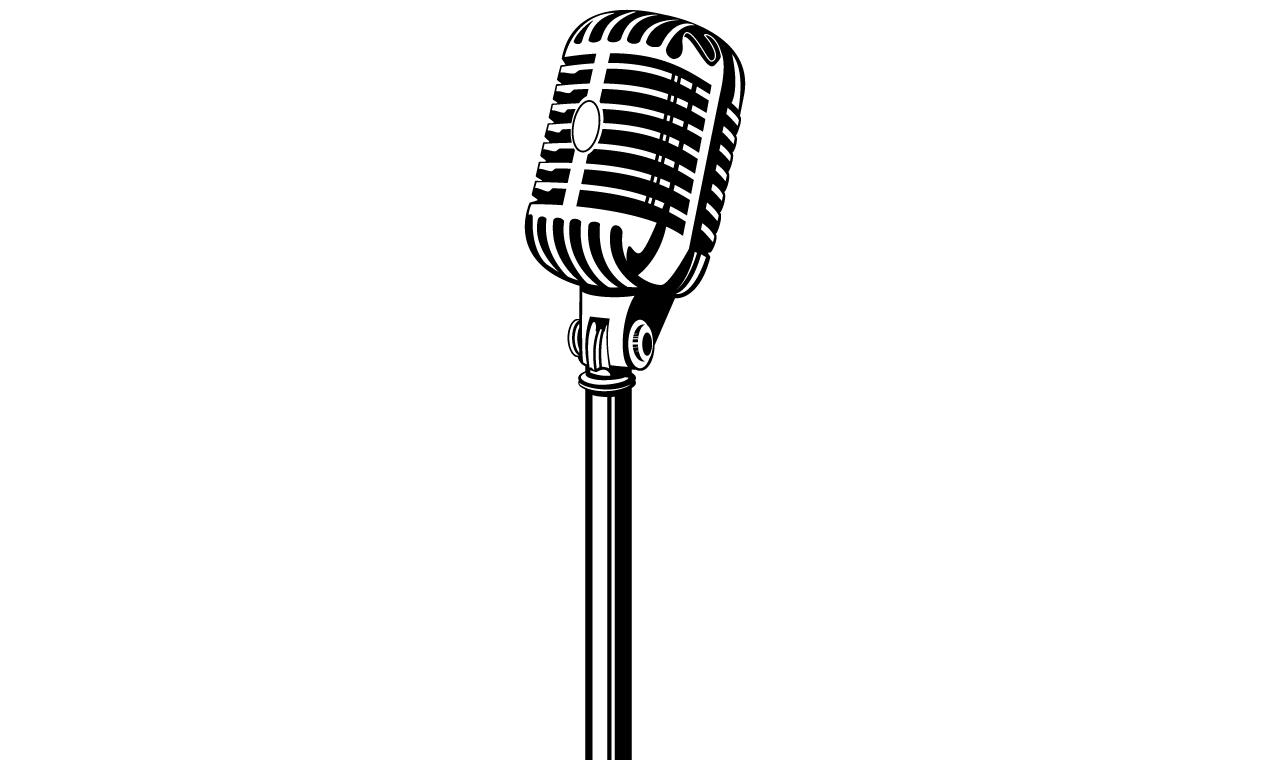 Microphone Logo Vector at GetDrawings.com.