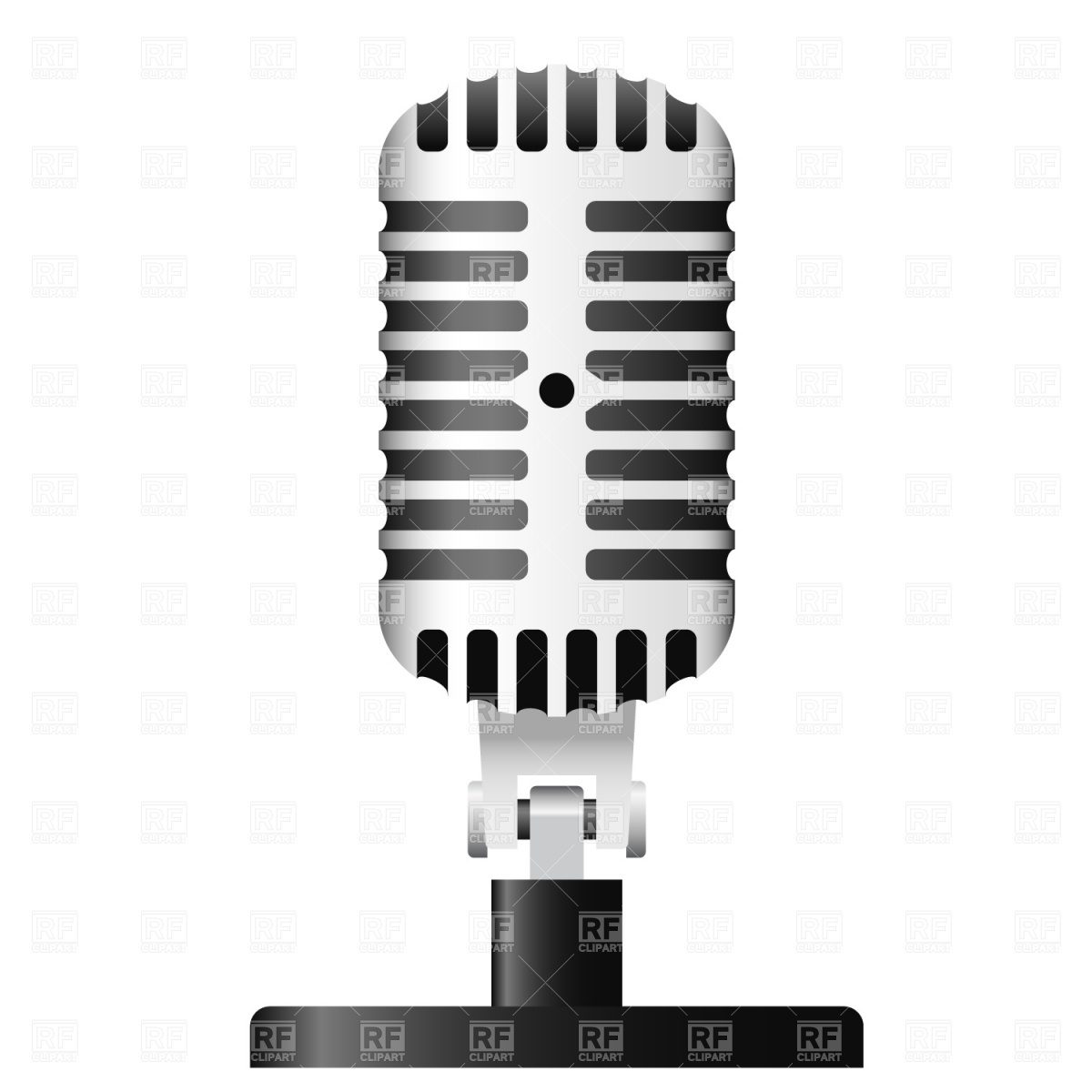Microphone Vector Clipart.