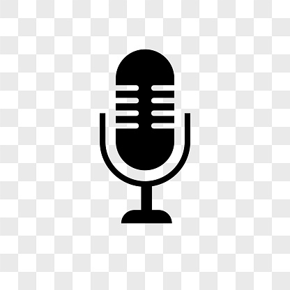 Microphone Vector Icon On Transparent Background Microphone.