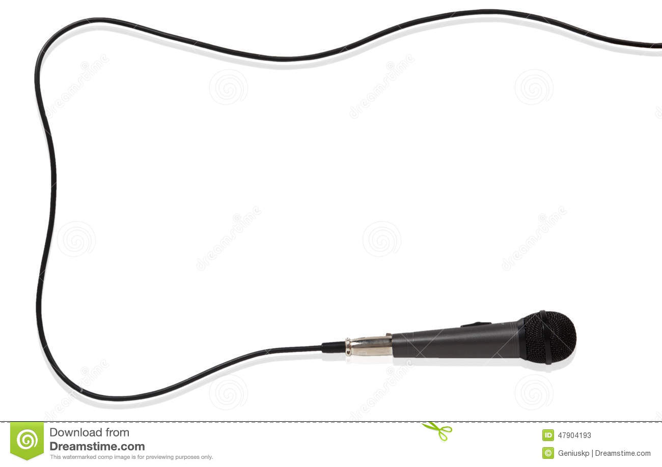 Microphone With Cord Clipart.