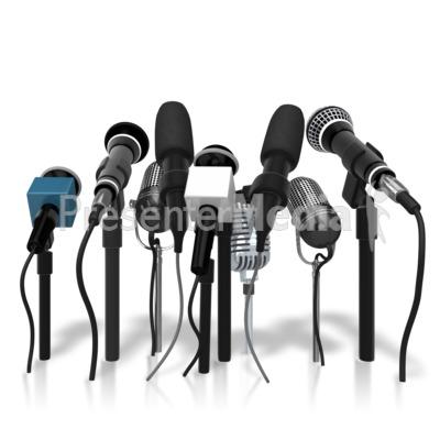 Clip art microphones.