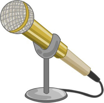 Interview microphone clipart.