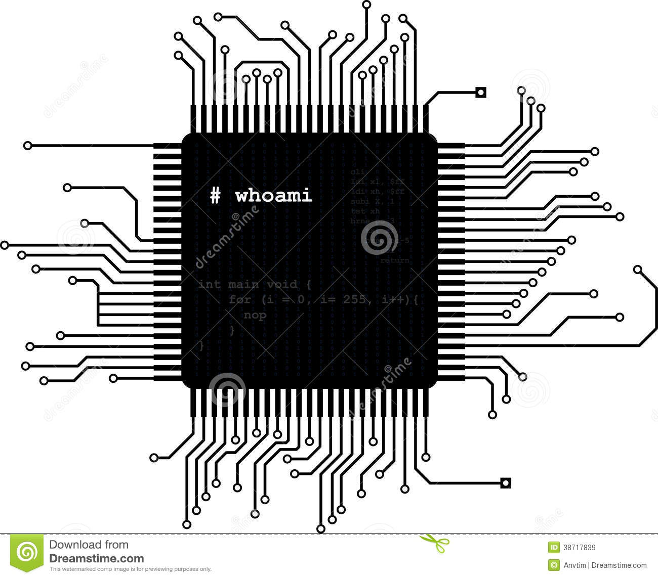 Microchip Royalty Free Stock Images.