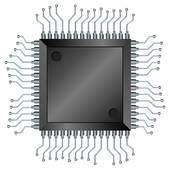 Microprocessor Clip Art.
