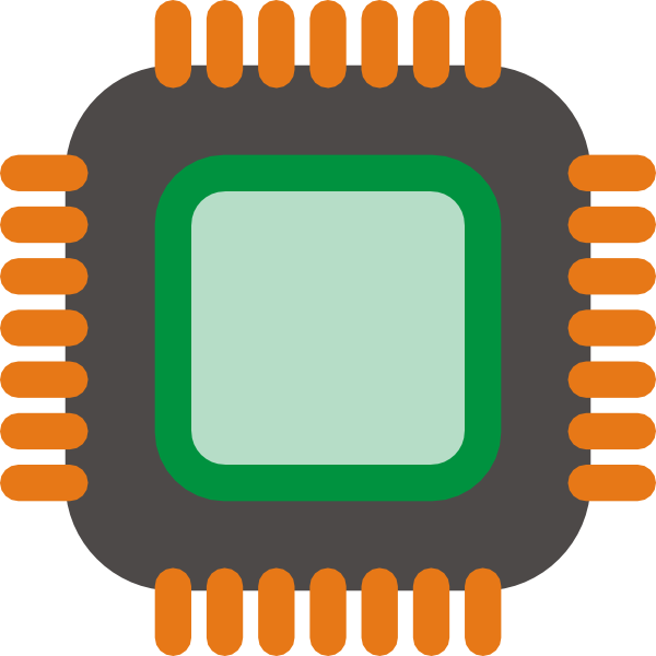 Generic Microchip Clip Art at Clker.com.