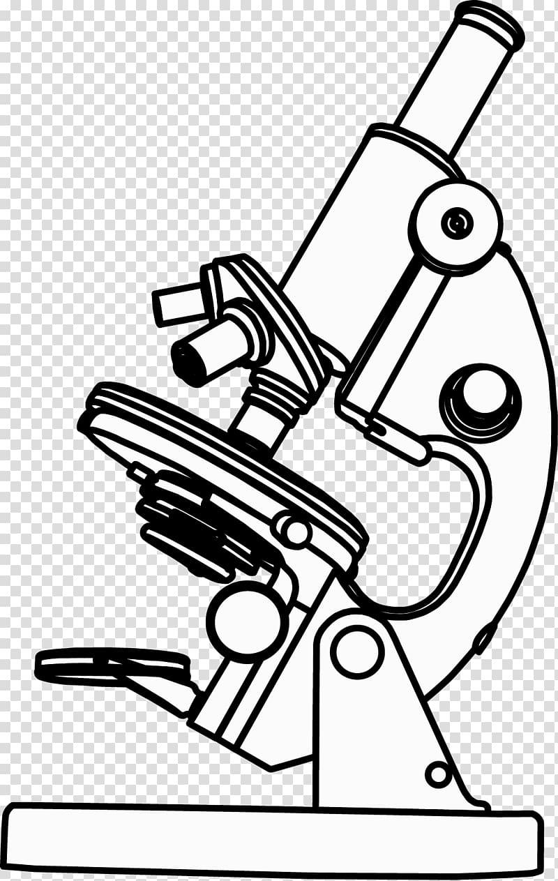 White microscope , Optical microscope , painted microscope.