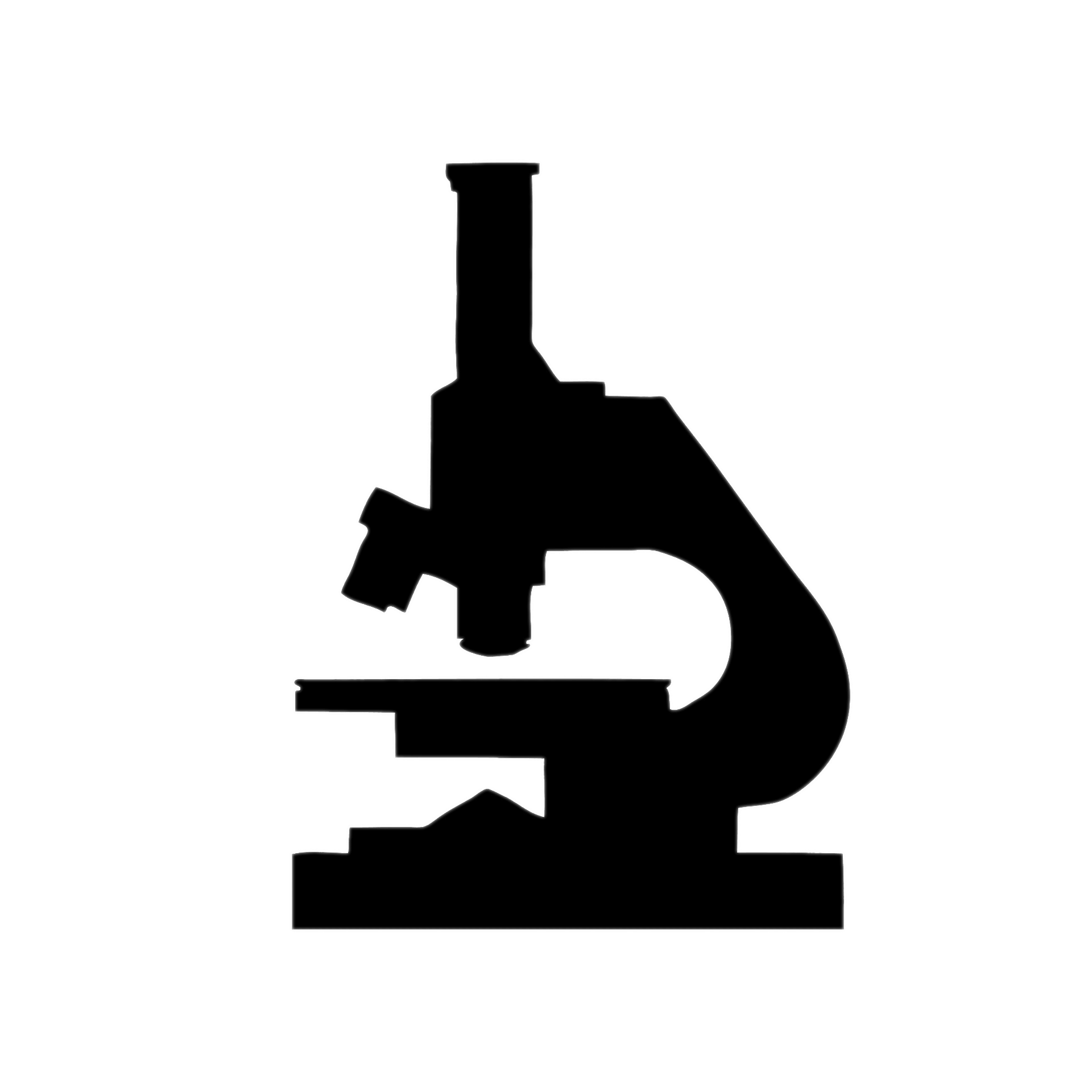 Microscope Silhouette Clipart transparent PNG.