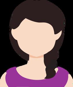 3747 female avatar clipart.