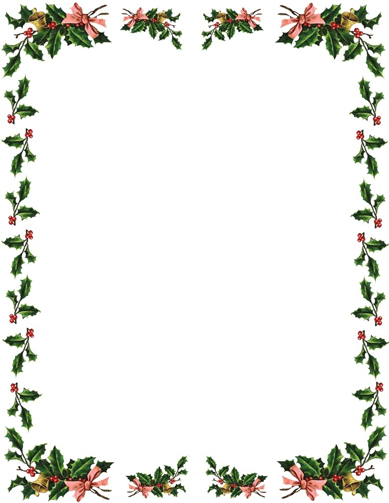 Microsoft Christmas Borders Clipart within Christmas Border.
