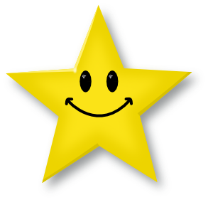 Free Smiley Face Star Clipart Image.