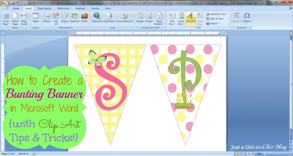 How to Make a Bunting Banner in Word {with Clip Art Tips and.