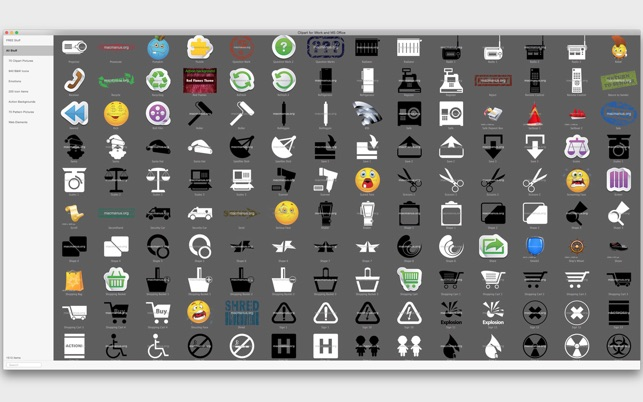 Clipart for iWork and MS Office on the Mac App Store.