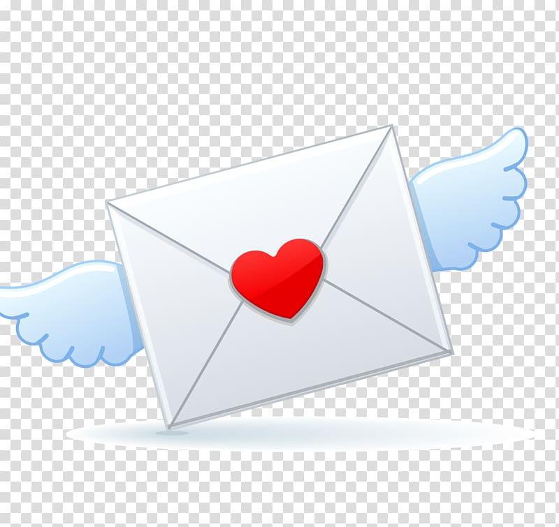 Heart Angle Microsoft Azure, Valentine envelope transparent.
