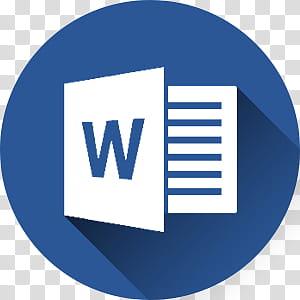 Microsoft Office long Shadow Icons, word.