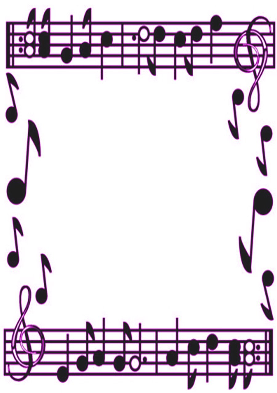 Music border music note border clipart free images.