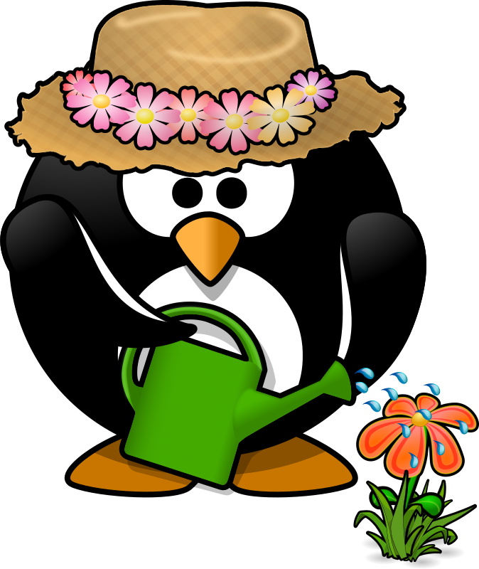 Clipart spring penguin, Clipart spring penguin Transparent.