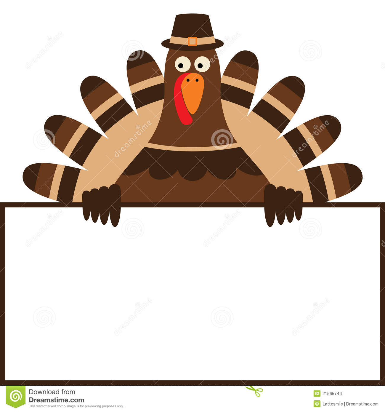 Thanksgiving Turkey Clipart Border.