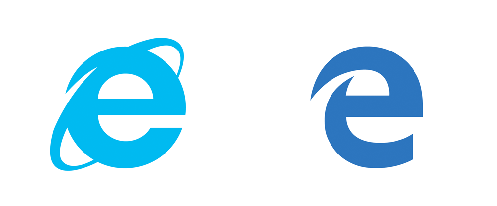 Brand New: New Logo for Microsoft Edge.