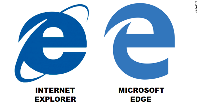 The new Microsoft Edge browser logo looks like.