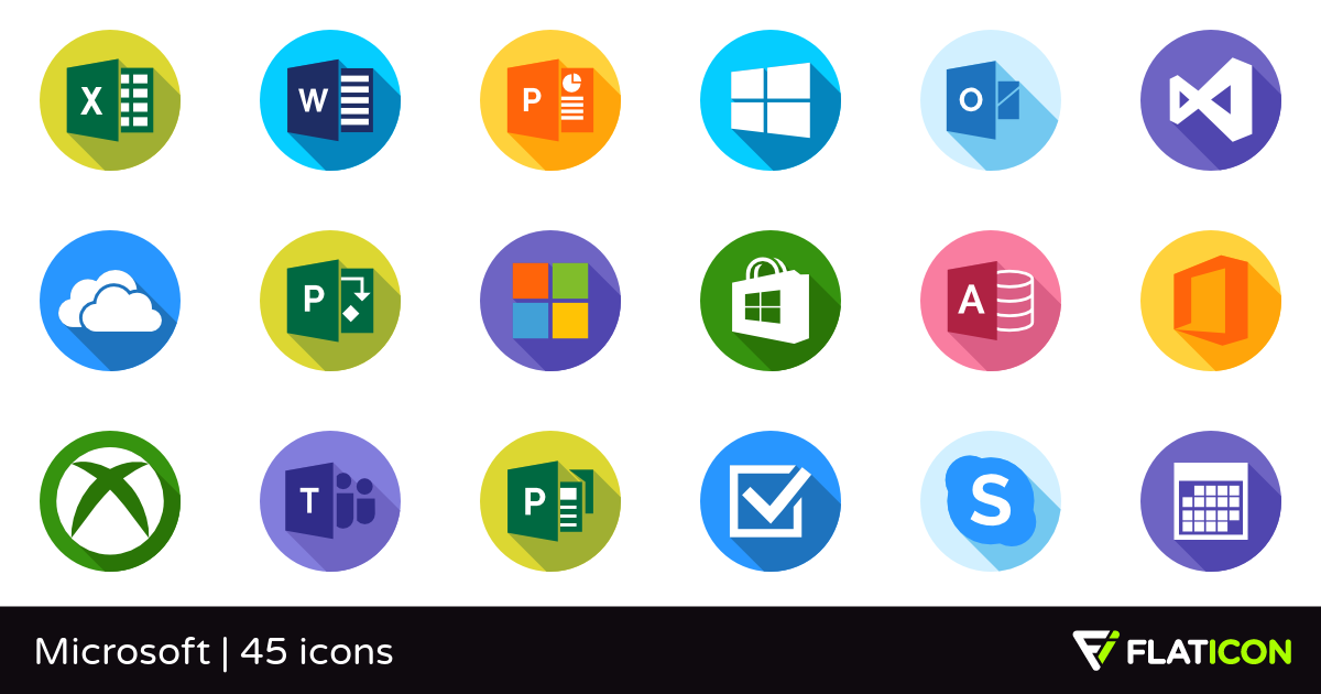 Microsoft 45 free icons (SVG, EPS, PSD, PNG files).