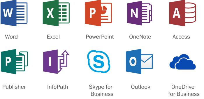 Microsoft Office Icons Png Vector, Clipart, PSD.