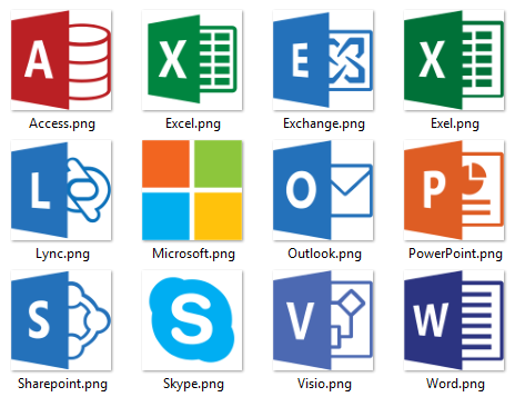 Microsoft, Azure, Office, CRM Icon/Logo Sets.