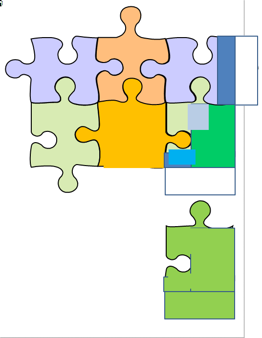 Creating a jigsaw diagram in MS Word.