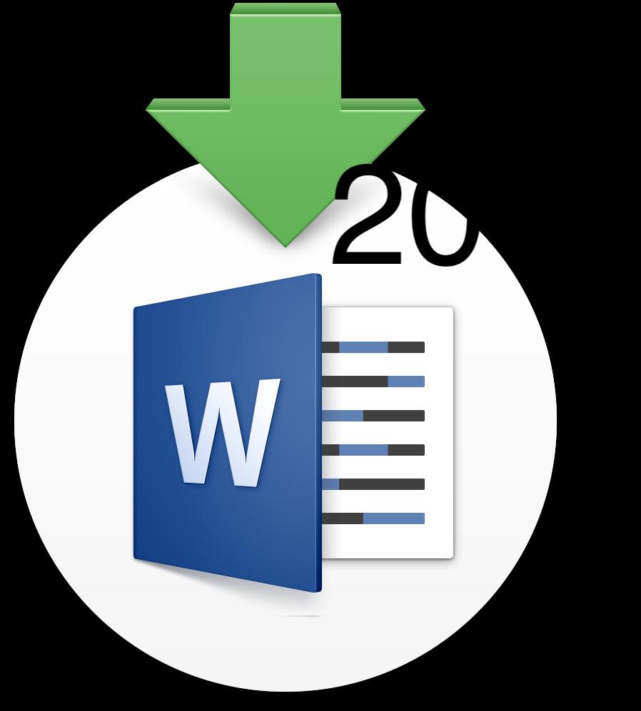 Microsoft Office Word 2017 Logo , Transparent Cartoon.