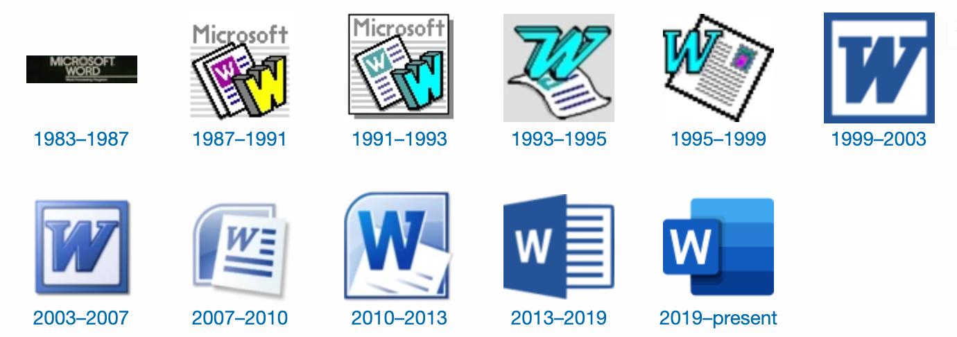 35 Years of Microsoft Word Design History.