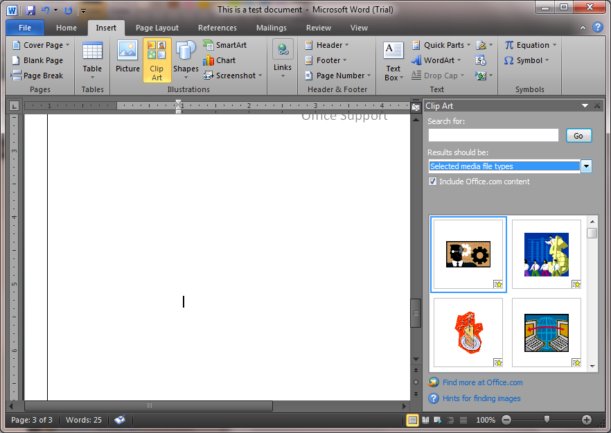 Clipart In Microsoft Office ~ Microsoft Office Support.