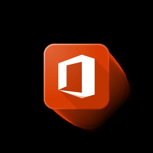 microsoft, office, Logo icon.