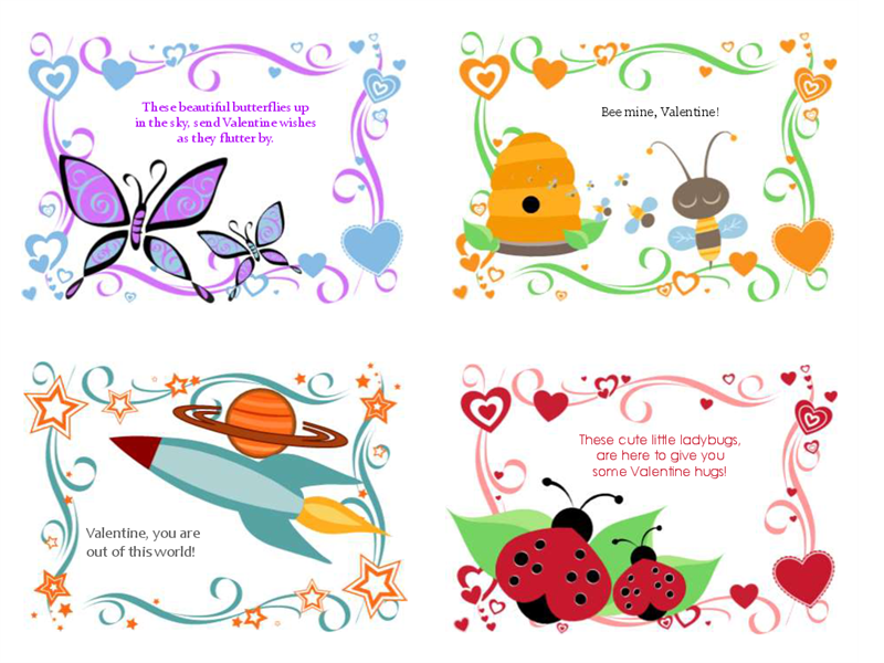 Kids Valentine\'s Day cards (24 designs).