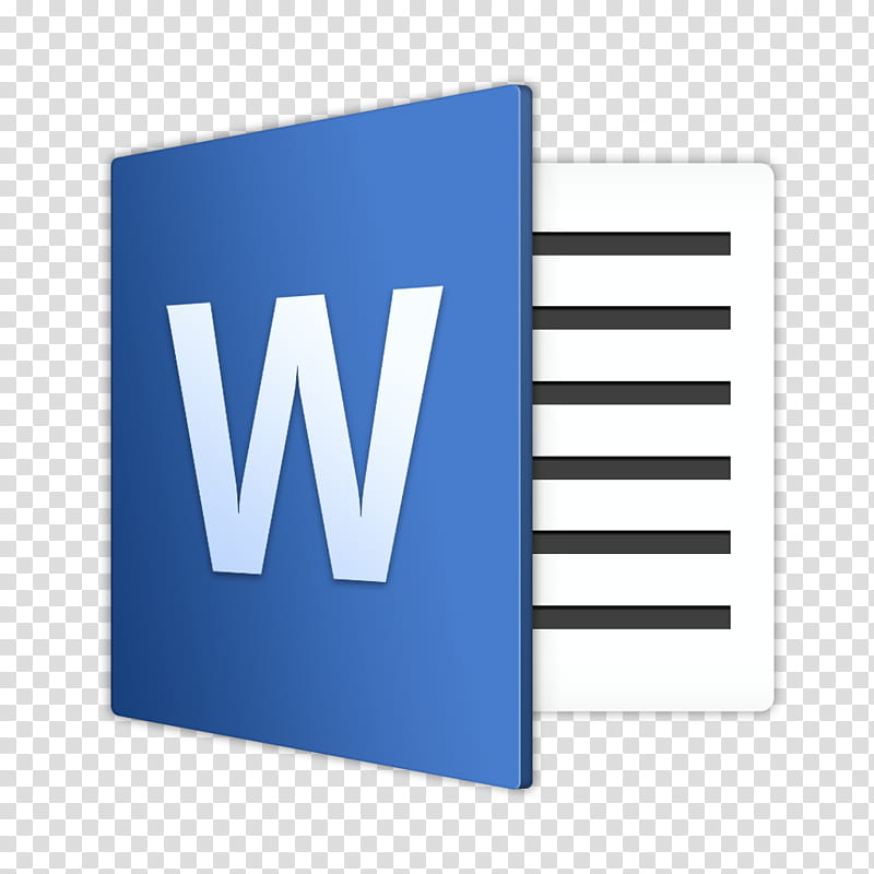 Microsoft Office For Mac , Microsoft Word icon transparent.