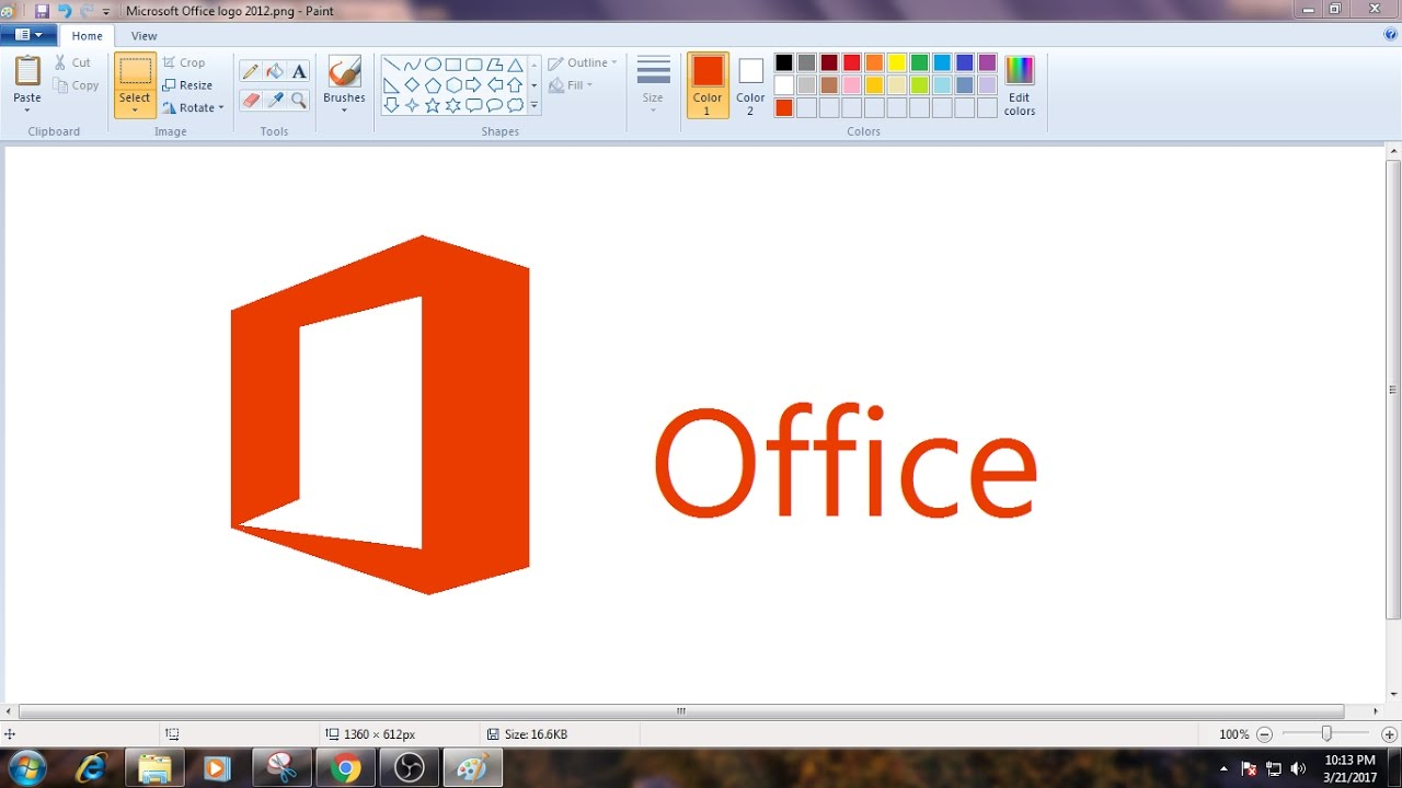 How to Draw MS Office Logo in MS Paint from Scratch!.