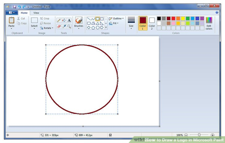 How to Draw a Logo in Microsoft Paint: 7 Steps (with Pictures).