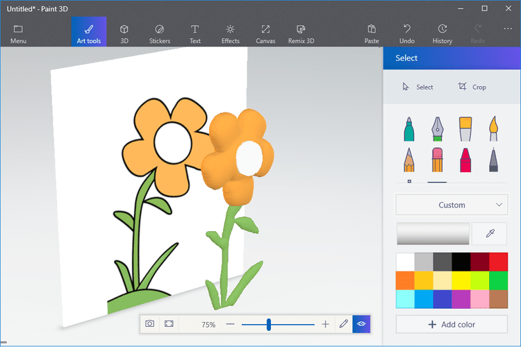 Convert a 2D Drawing Into 3D Art With Microsoft\'s Paint 3D.
