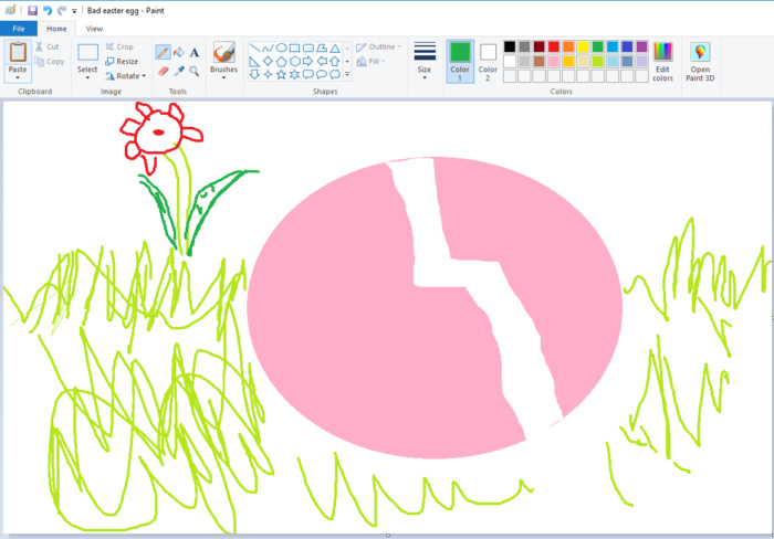 My ode to Microsoft Paint.