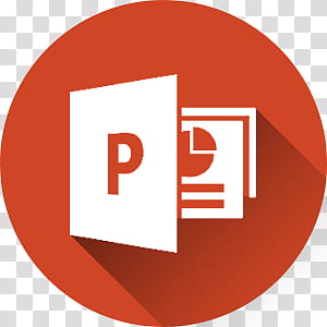 Microsoft Office long Shadow Icons, powerpoint.