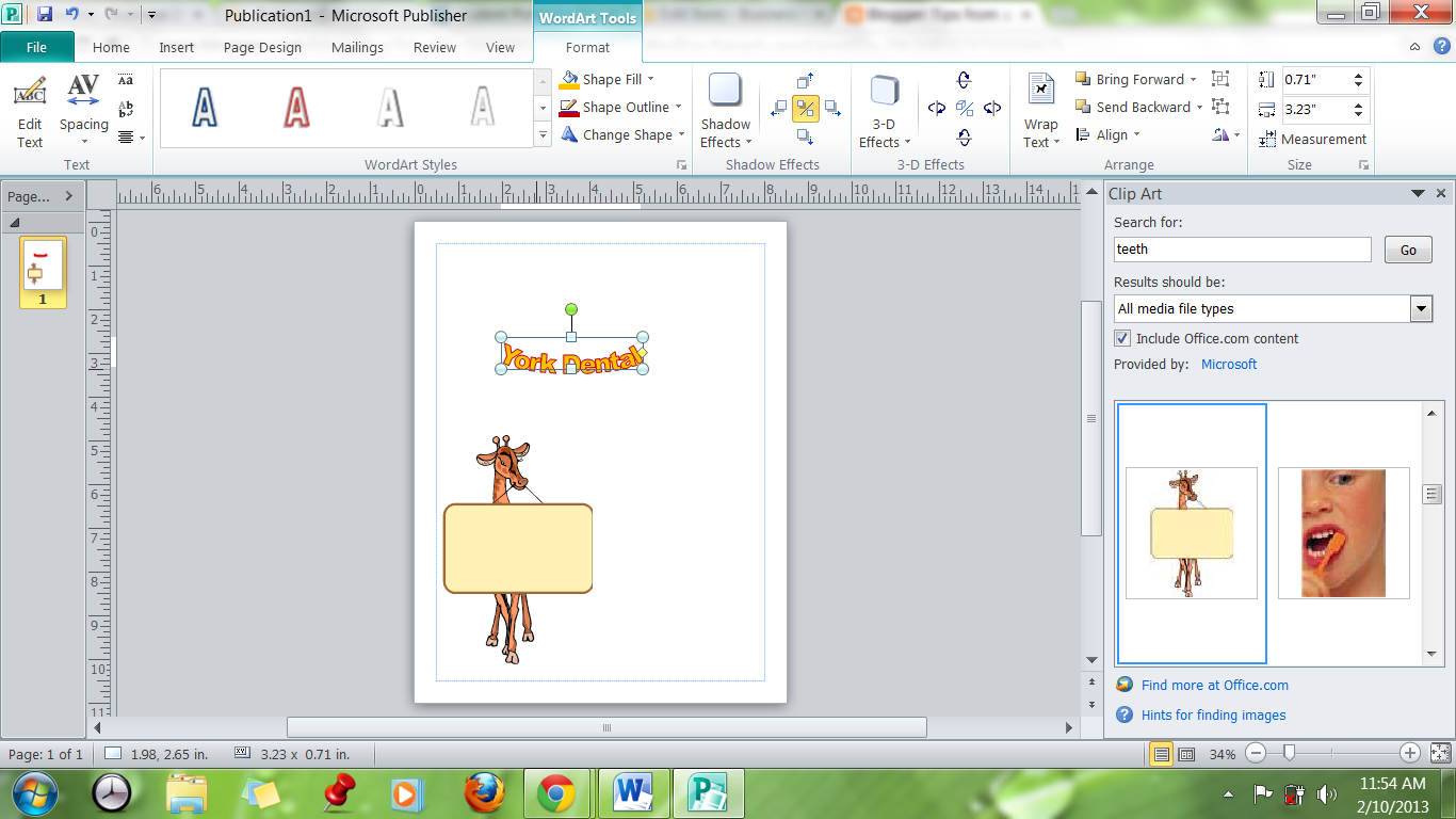 Tips from a Tech Teacher: Creating a Logo in Publisher.