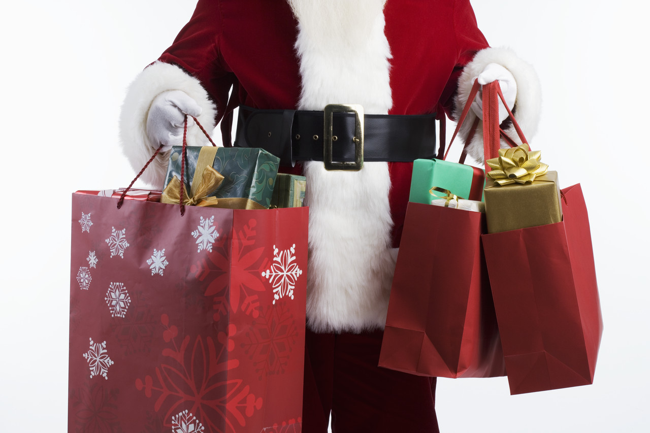 Microsoft santa with bag clipart.