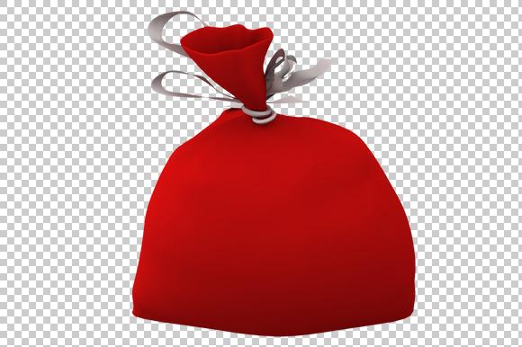 Santa Gift Bag Clipart Free.