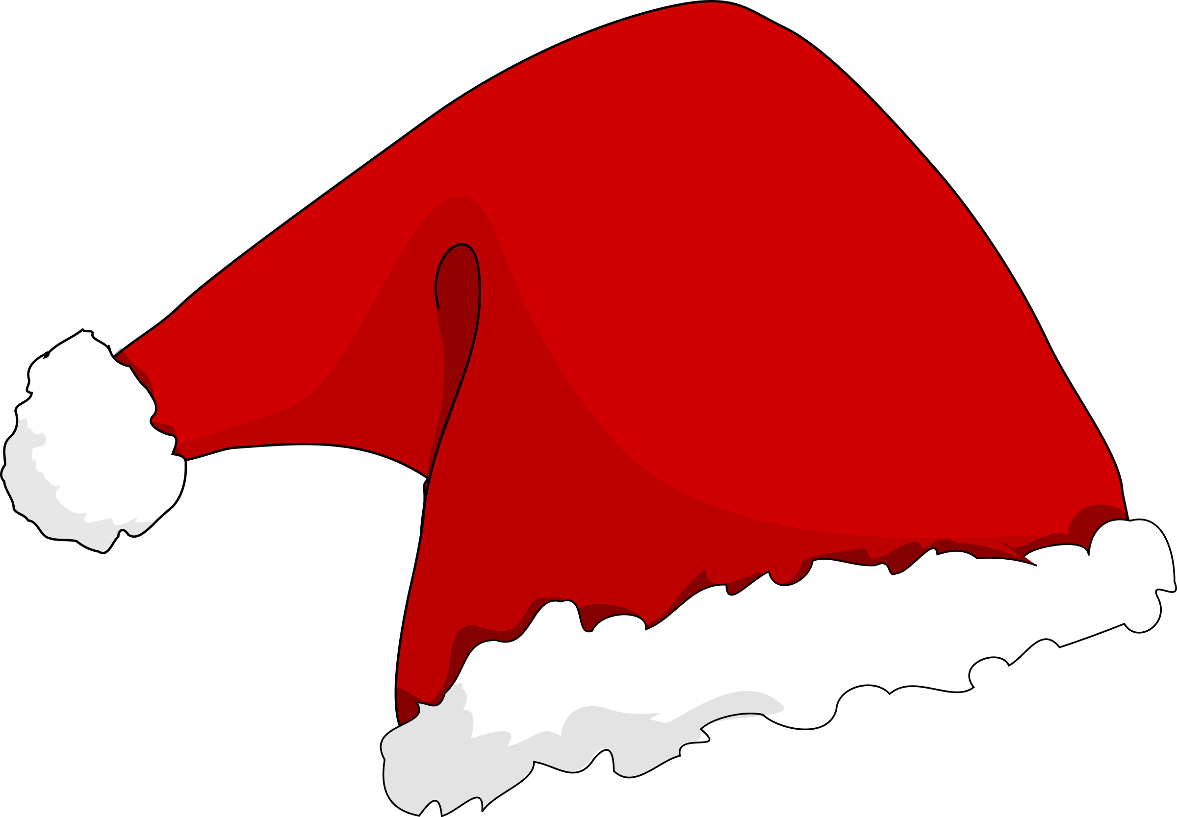 Microsoft santa with bag clipart.