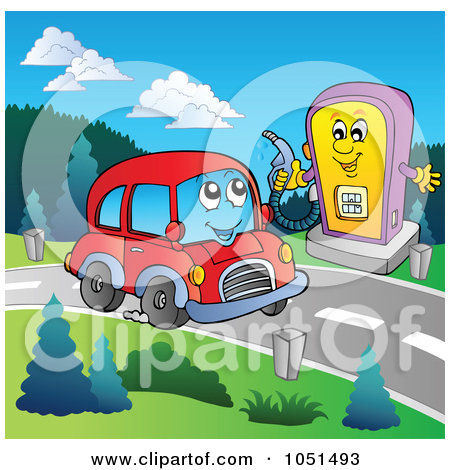 Car Stopping Clipart.