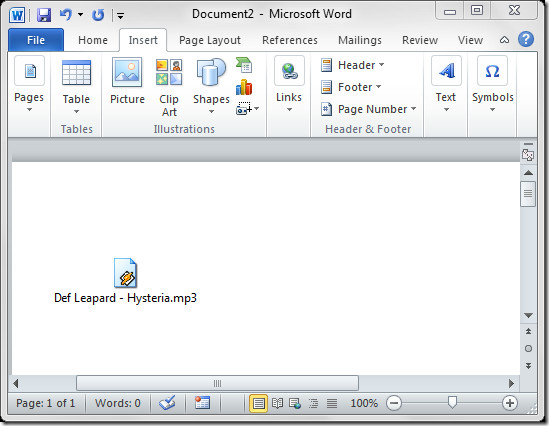 Unable to insert clipart in word 2010.