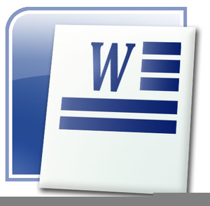 Microsoft Word Processor Clipart.
