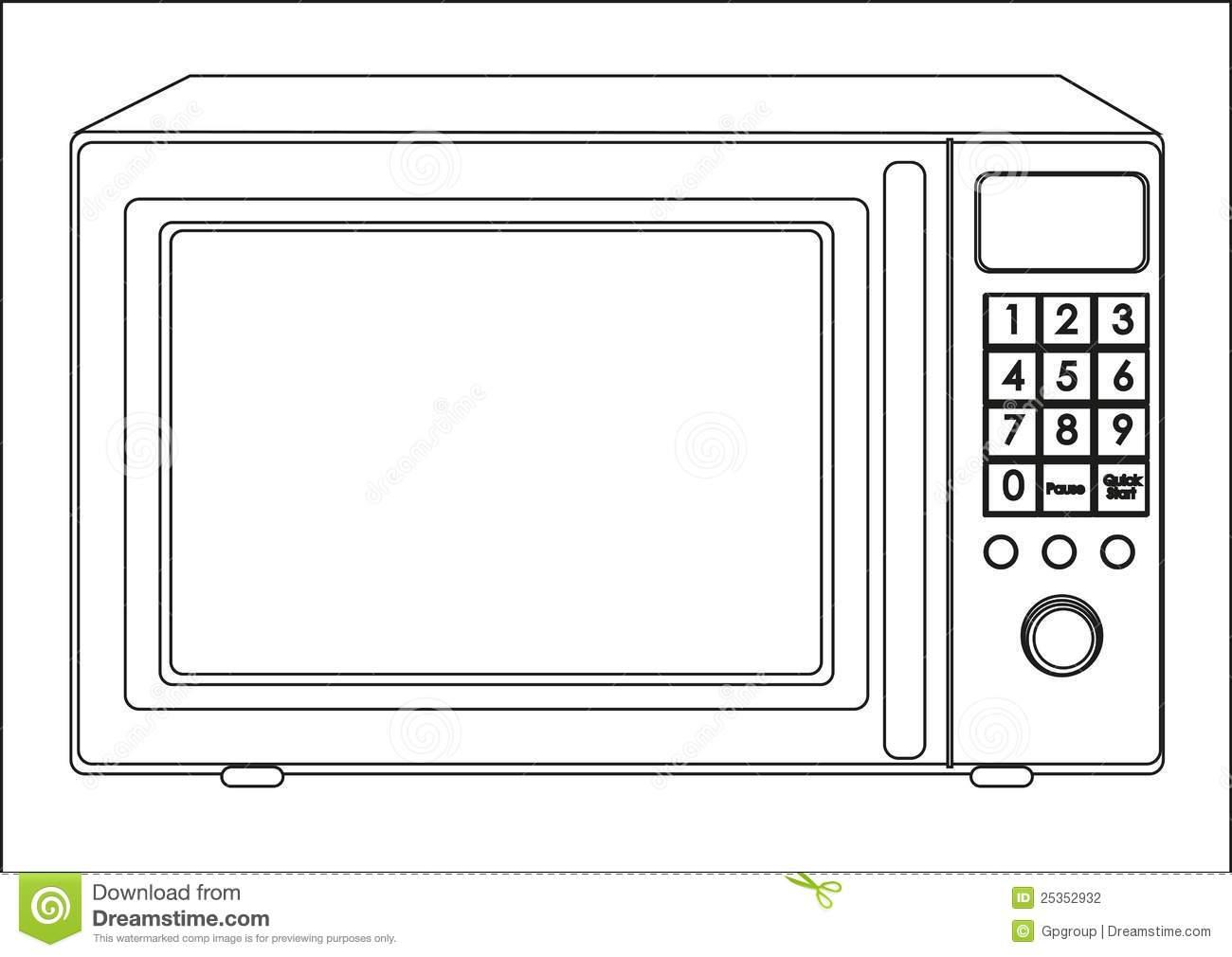 Microwave Popcorn Clipart.